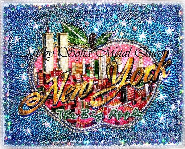New York Big Apple Beadwork Embroidery Painting