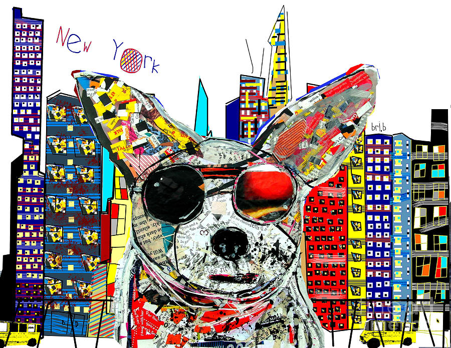 New York Chihuahua Painting