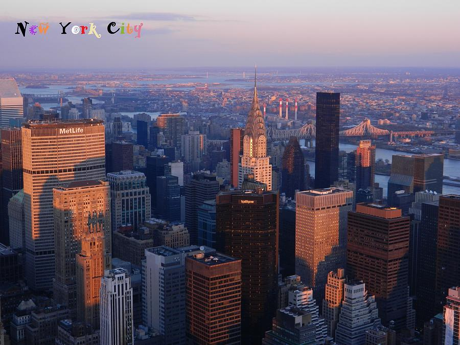 New York City At Dusk Photograph