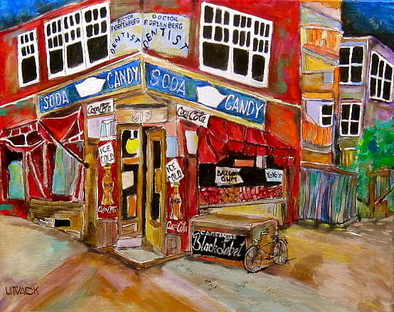 New York City Painting - New York City Candy Store by Michael Litvack