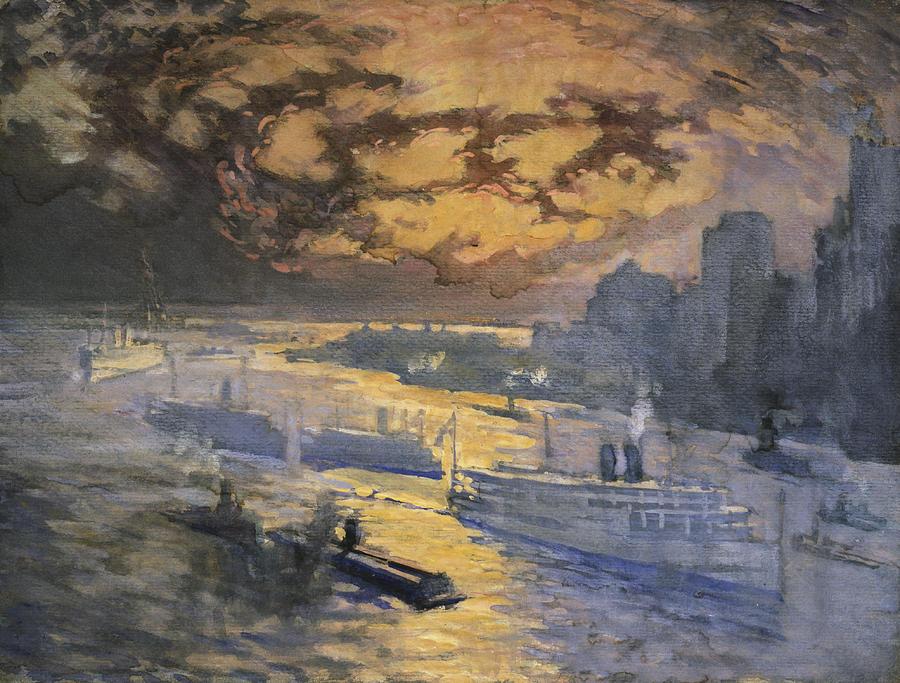 New York City Circa 1921 Painting