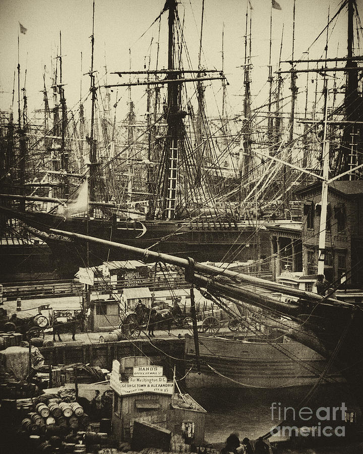 New York City Docks - 1800s Photograph