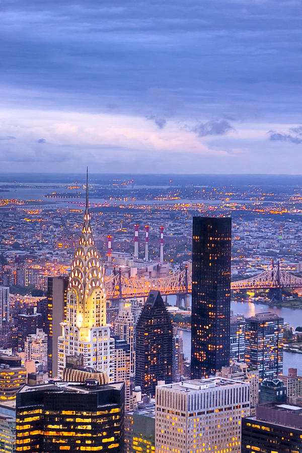 New York Photograph - New York City Evening by Mark E Tisdale