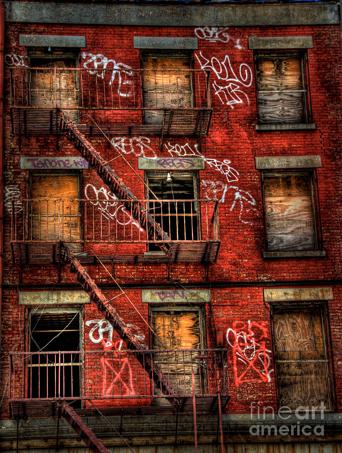 New York City Graffiti Building Photograph