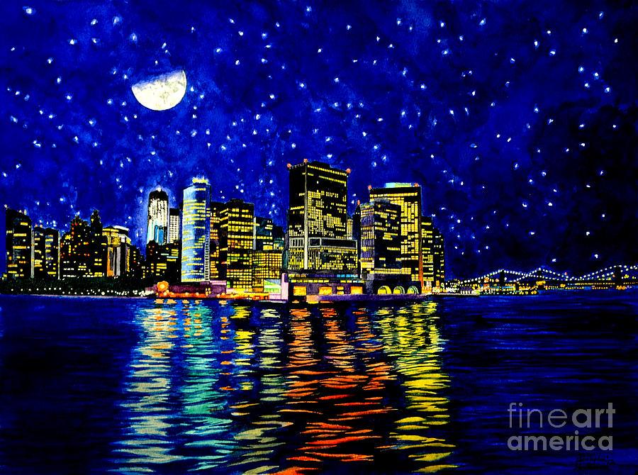 New York City Lower Manhattan Painting
