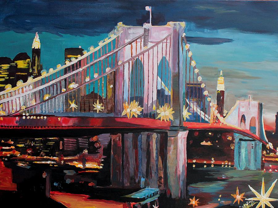 New York Painting Bridge New York City - Manhattan