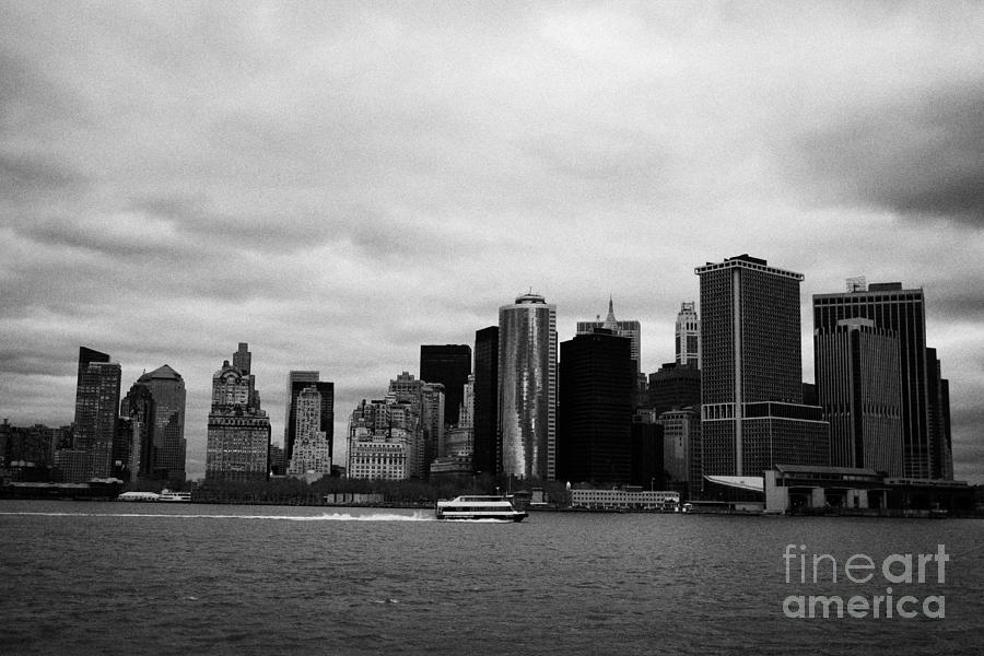 New York City Manhatten Winter Shoreline Photograph