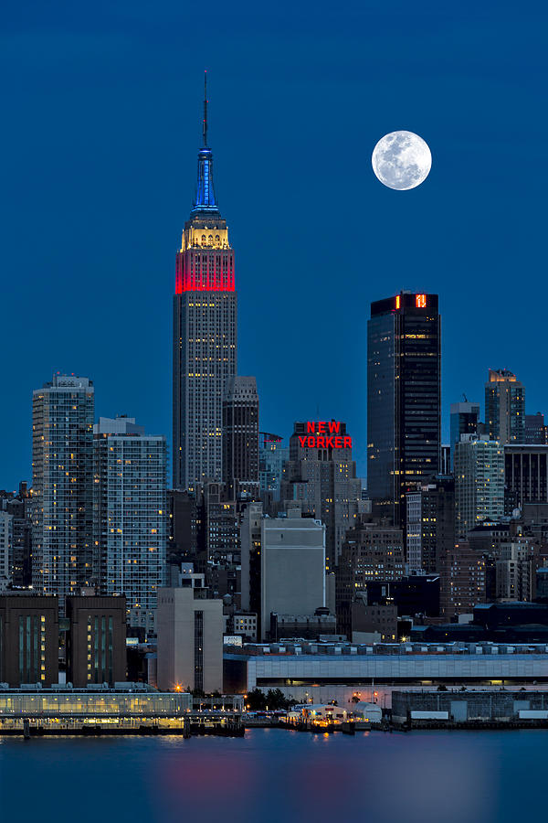 New York City Moonrise  Photograph