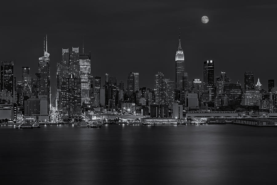 New York City Night Lights Photograph