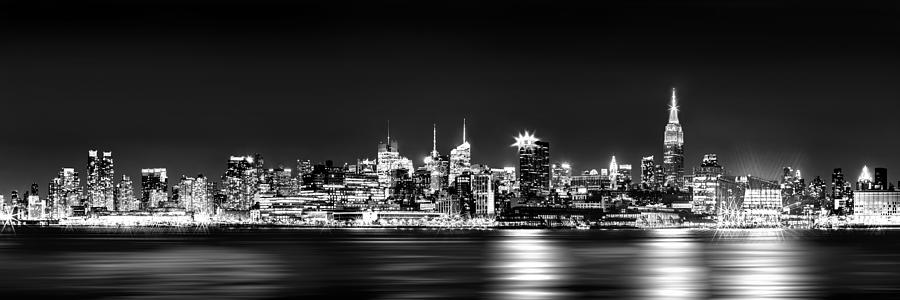 New York City Skyline - Bw Photograph