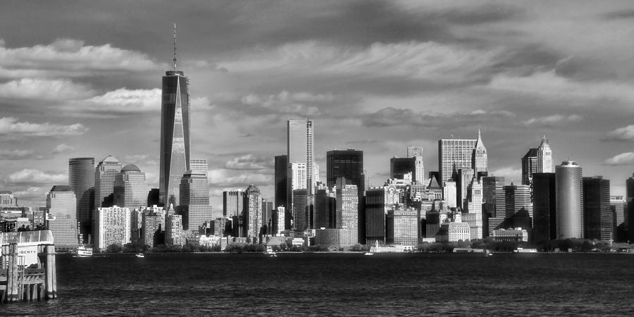New York City Skyline Black And White Photograph by Dan Sproul
