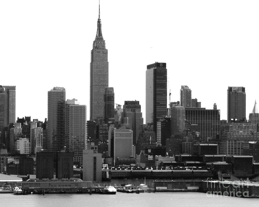 new york city skyline with empire state building. Black Bedroom Furniture Sets. Home Design Ideas