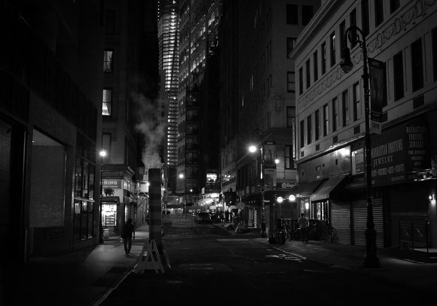 New York City Photograph - New York City Street - Night by Vivienne Gucwa