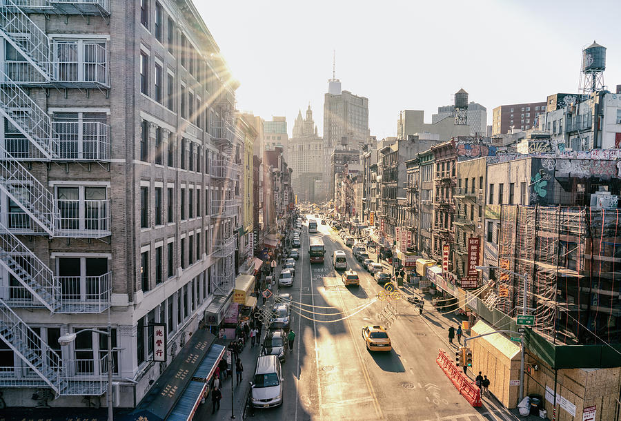 New York City - Sunset Above Chinatown Photograph
