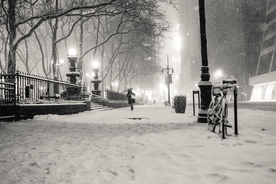 New York City Winter Night Photograph  - New York City Winter Night Fine Art Print