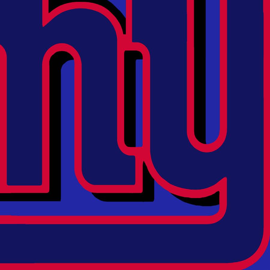 New York Painting - New York Giants Football by Tony Rubino