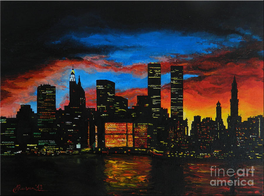 Landscape Painting - New York In The Glory Days by Alexandru Rusu