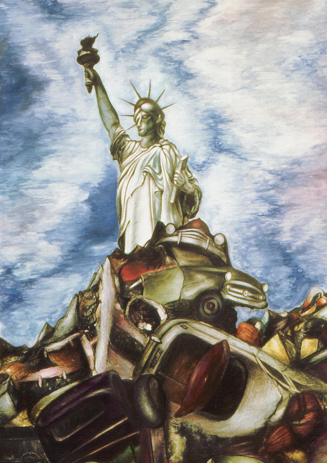 New York Liberty 77 - Fantasy Art Painting Drawing