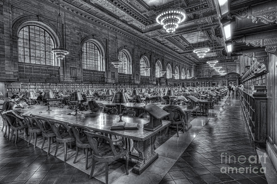 Clarence Holmes Photograph - New York Public Library Main Reading Room V by Clarence Holmes