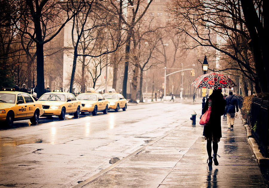 New York Rain - Greenwich Village Photograph  - New York Rain - Greenwich Village Fine Art Print