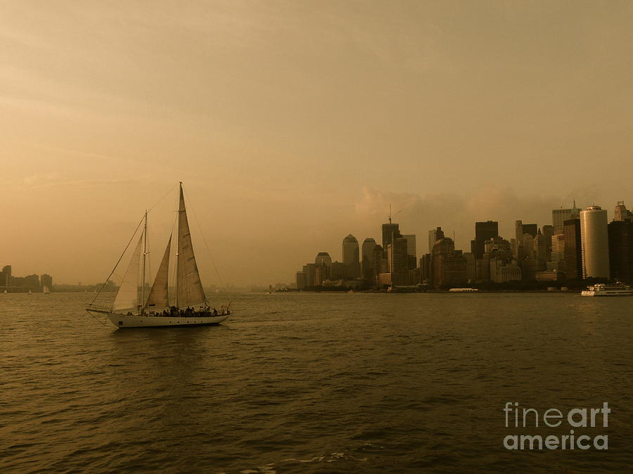 New York Sailing Photograph  - New York Sailing Fine Art Print