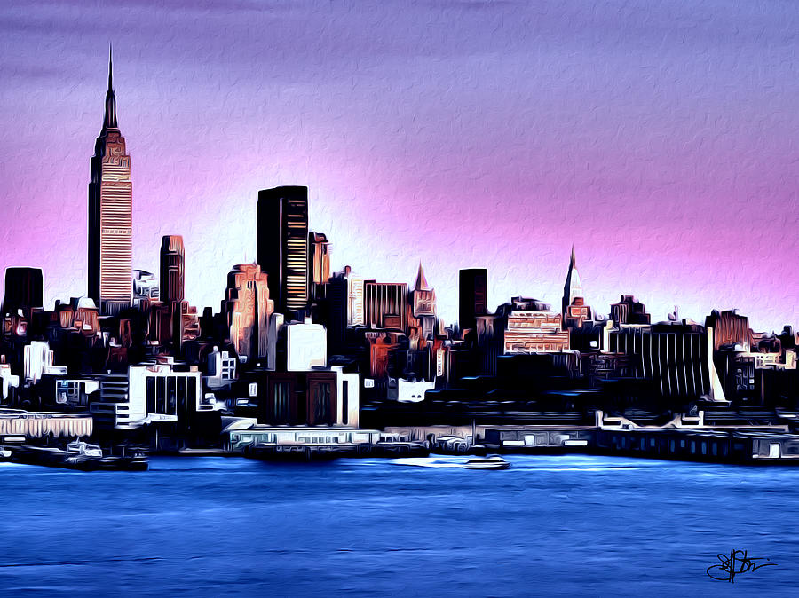 New york skyline painting by artistic photos for New york skyline painting