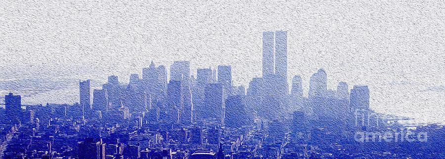 New York Skyline Mixed Media