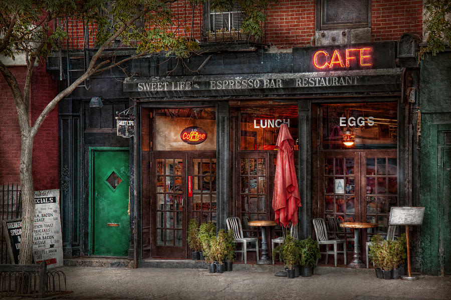 New York - Store - Greenwich Village - Sweet Life Cafe Photograph  - New York - Store - Greenwich Village - Sweet Life Cafe Fine Art Print
