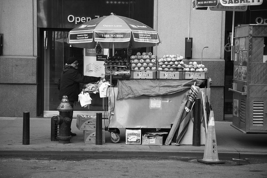 Apples Photograph - New York Street Photography 6 by Frank Romeo