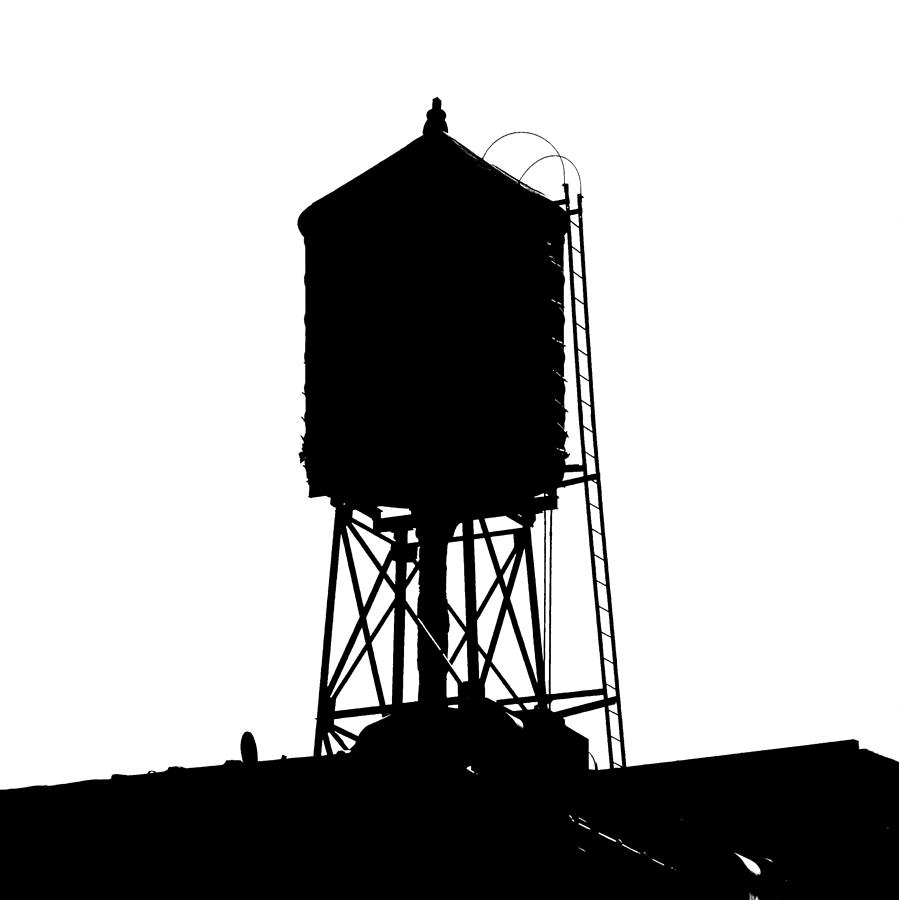 New York Water Tower 17 - Silhouette - Urban Icon Photograph by Gary ... Iphone Silhouette Icon
