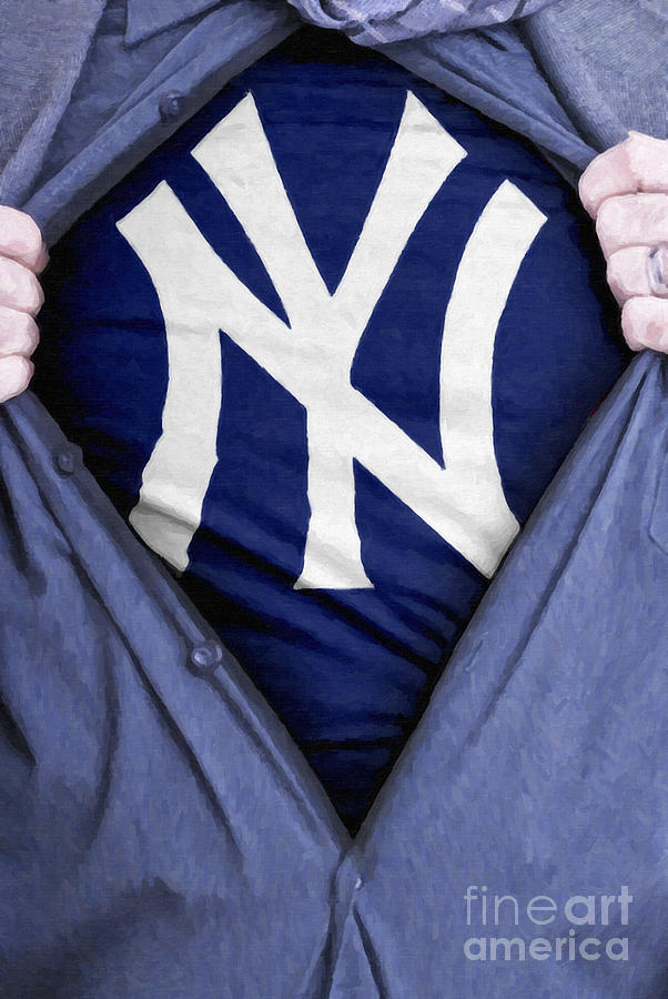 Baseball Painting - New York Yankees Fan by Antony McAulay