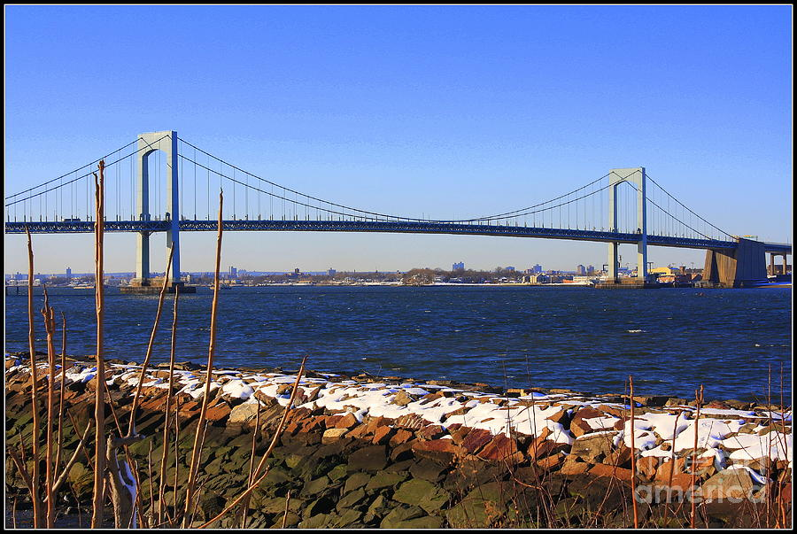 New Yorks Throgs Neck Bridge Photograph