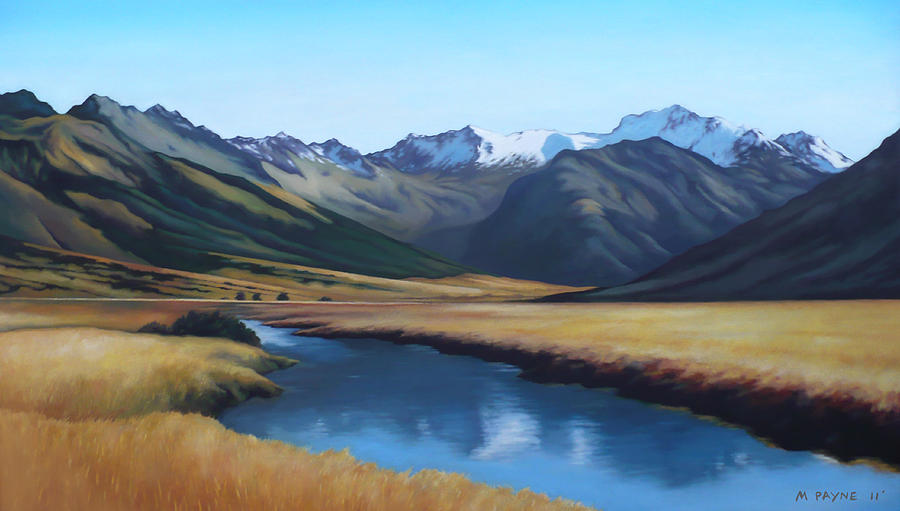 New zealand landscape painting by michael payne for Nz landscape