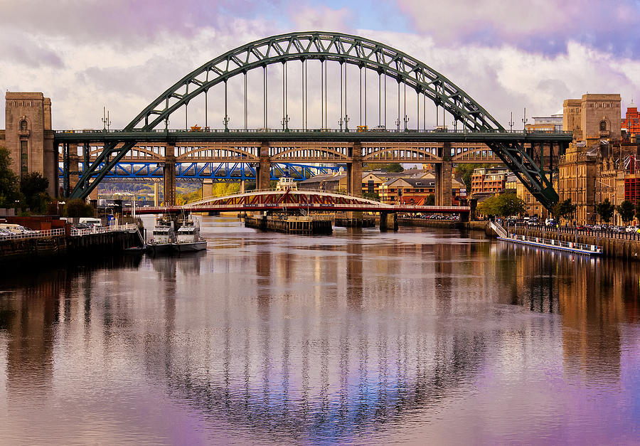 Newcastle Bridges Photograph