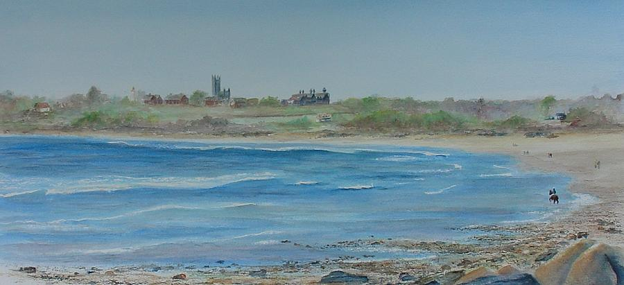 Newport 2nd Beach Painting  - Newport 2nd Beach Fine Art Print