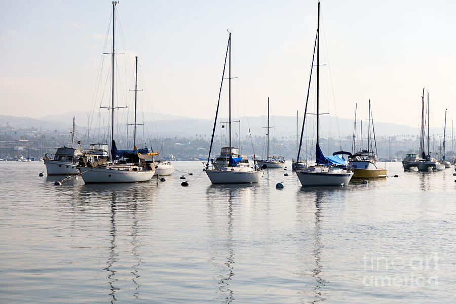 Newport Beach Bay Harbor California Photograph