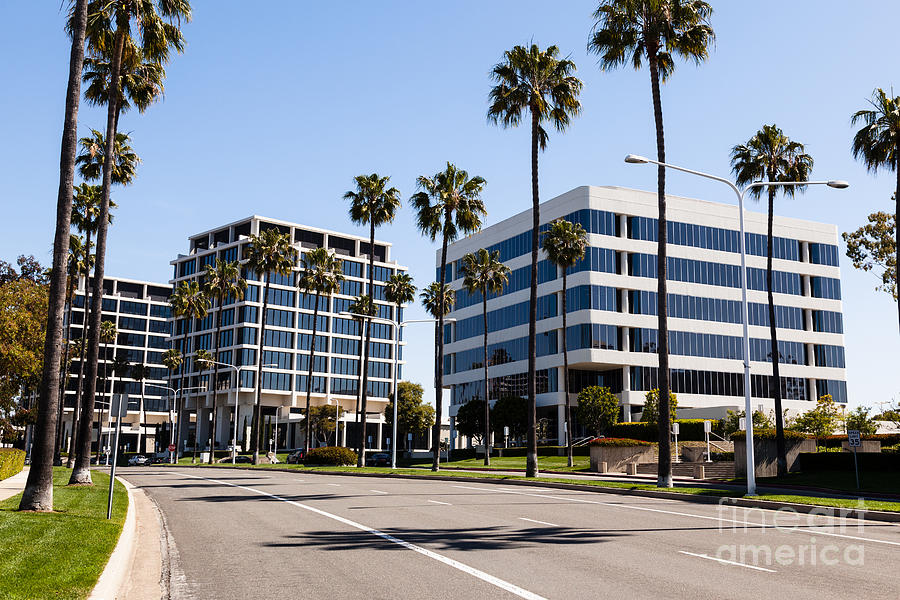 Newport Beach Office Buildings Orange County California Photograph  - Newport Beach Office Buildings Orange County California Fine Art Print