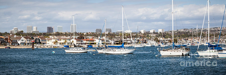 Newport Beach Panorama Photograph
