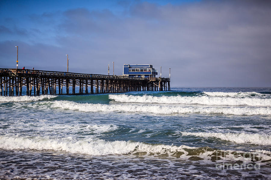 Newport Beach Pier In Orange County California Photograph
