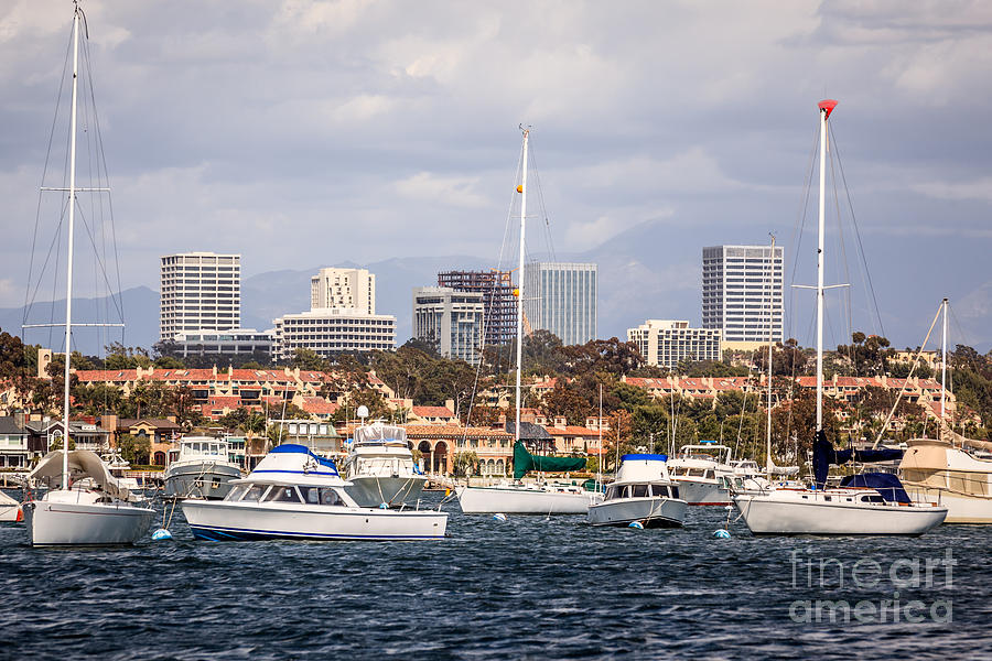 Newport Beach Skyline  Photograph