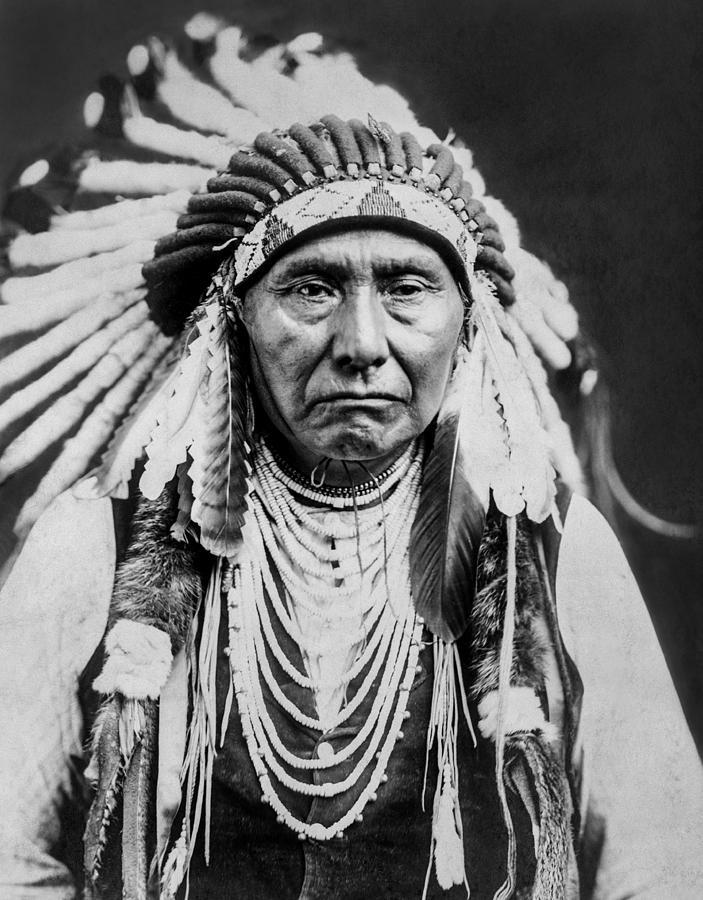 1903 Photograph - Nez Perce Indian Man Circa 1903 by Aged Pixel