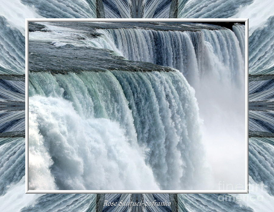 Niagara Falls American Side Closeup With Warp Frame Photograph  - Niagara Falls American Side Closeup With Warp Frame Fine Art Print