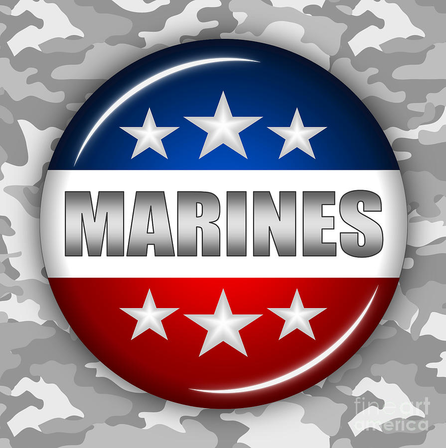 Nice Marines Shield 2 Digital Art