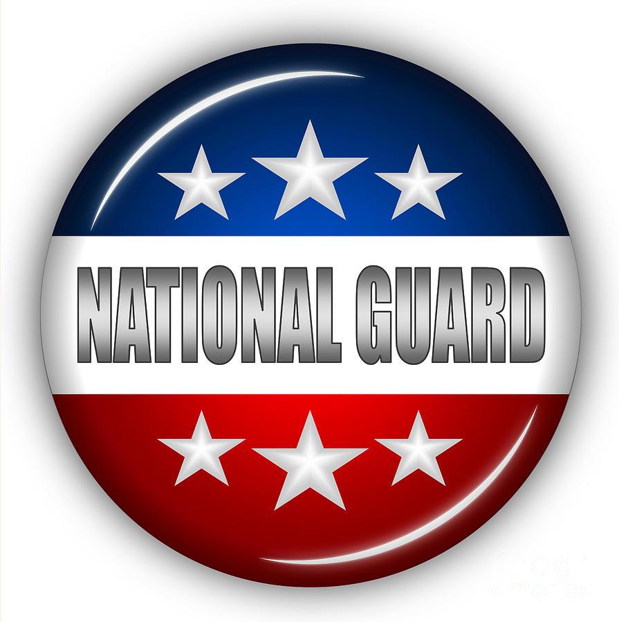 National Guard Digital Art - Nice National Guard Shield by Pamela Johnson