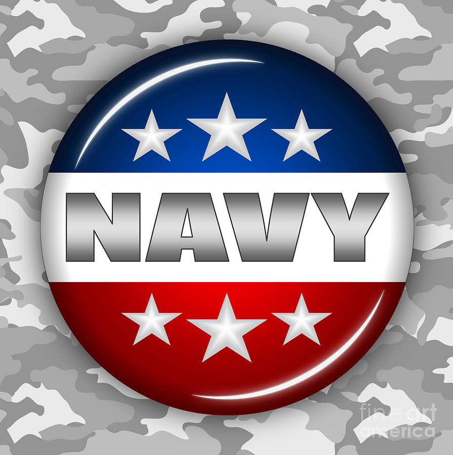Nice Navy Shield 2 Digital Art