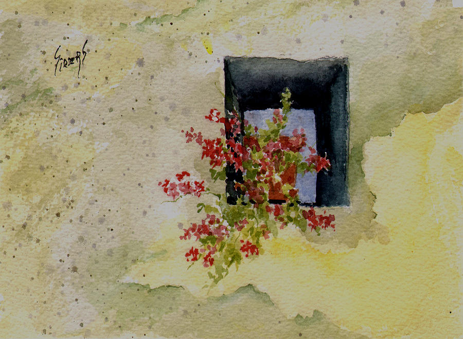 Niche Painting - Niche With Flowers by Sam Sidders