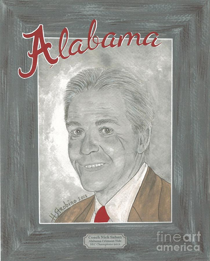 Nick Saban II Painting  - Nick Saban II Fine Art Print