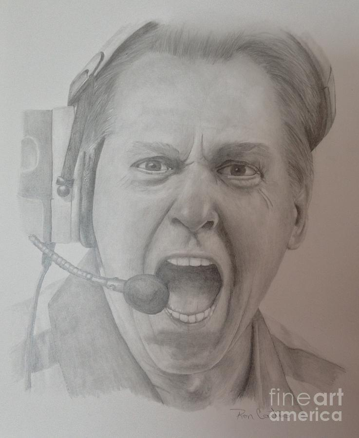 Nick Saban Motivational Speaker Drawing  - Nick Saban Motivational Speaker Fine Art Print