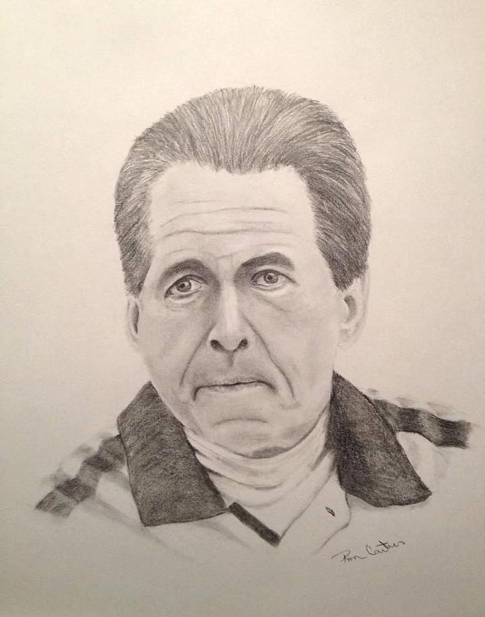 Nick Saban Drawing