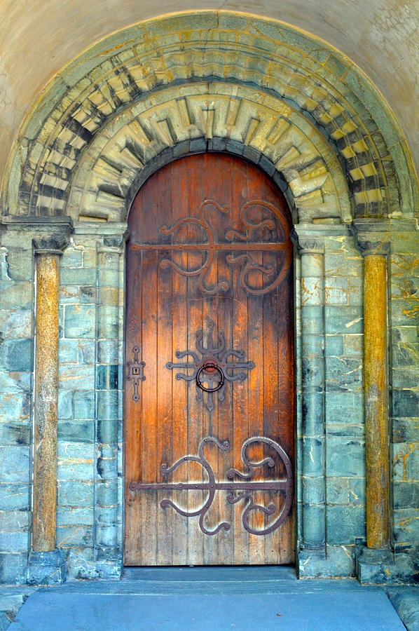 Nidaros Cathedral Door Photograph